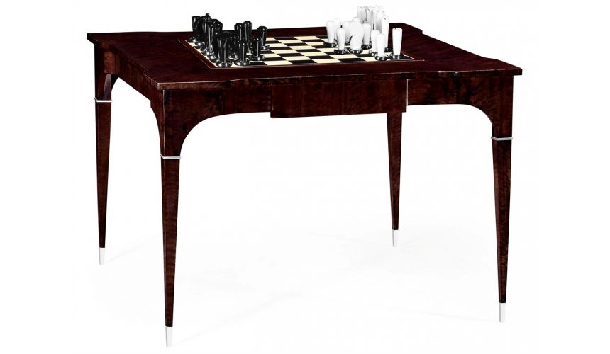 Game Card Tables & Game Chairs Classic Backgammon and Chess Table