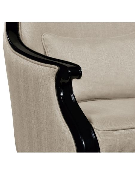 CHAIRS, Leather, Upholstered, Accent Classic Upholstered Occasional Armchair