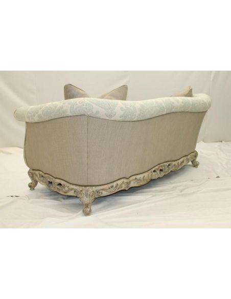Luxury  Comfort Sofa, Carved Frame 11