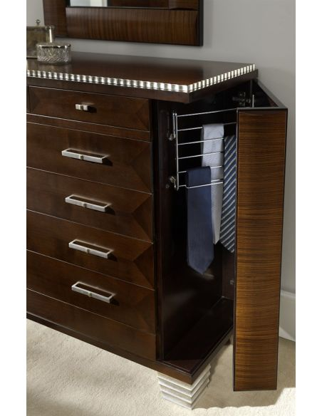 LUXURY BEDROOM FURNITURE Multi-Shelf Wooden Chest