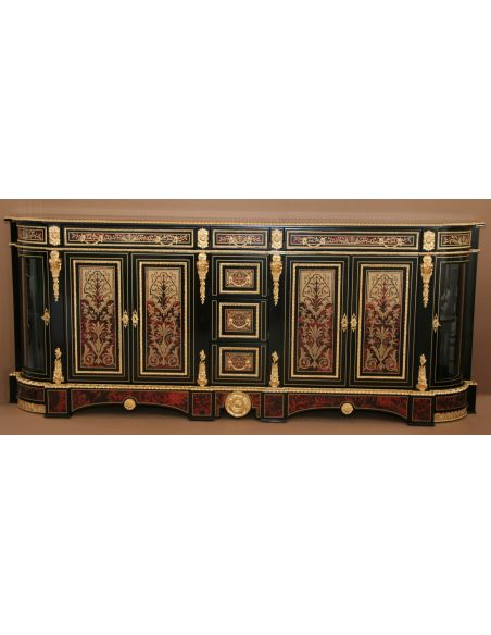 Breakfronts & China Cabinets Luxury breakfront cabinet. King Louis Collection Boulle marquetry work.