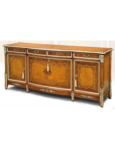 Breakfronts & China Cabinets 11 Luxury Breakfront. Exquisite marquetry work.
