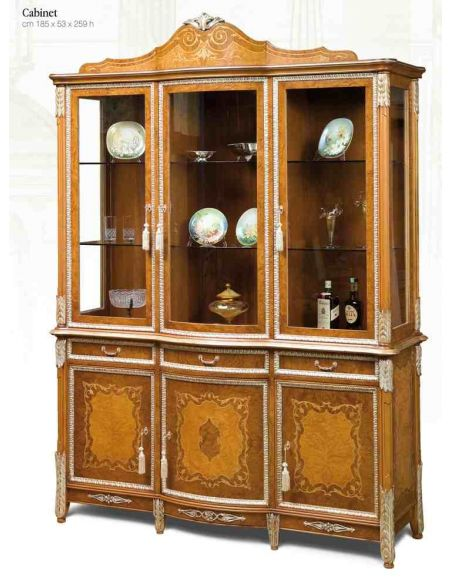 Breakfronts & China Cabinets 11 Luxury Cabinet. Exquisite marquetry work.