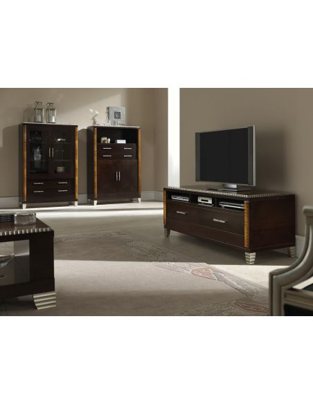 Entertainment Centers, TV Consoles, Pop Ups Wooden Media Chest
