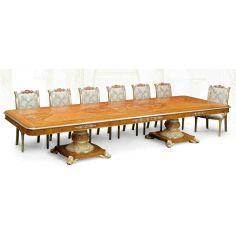 11 Luxury dining furniture. Exquisite marquetry work.