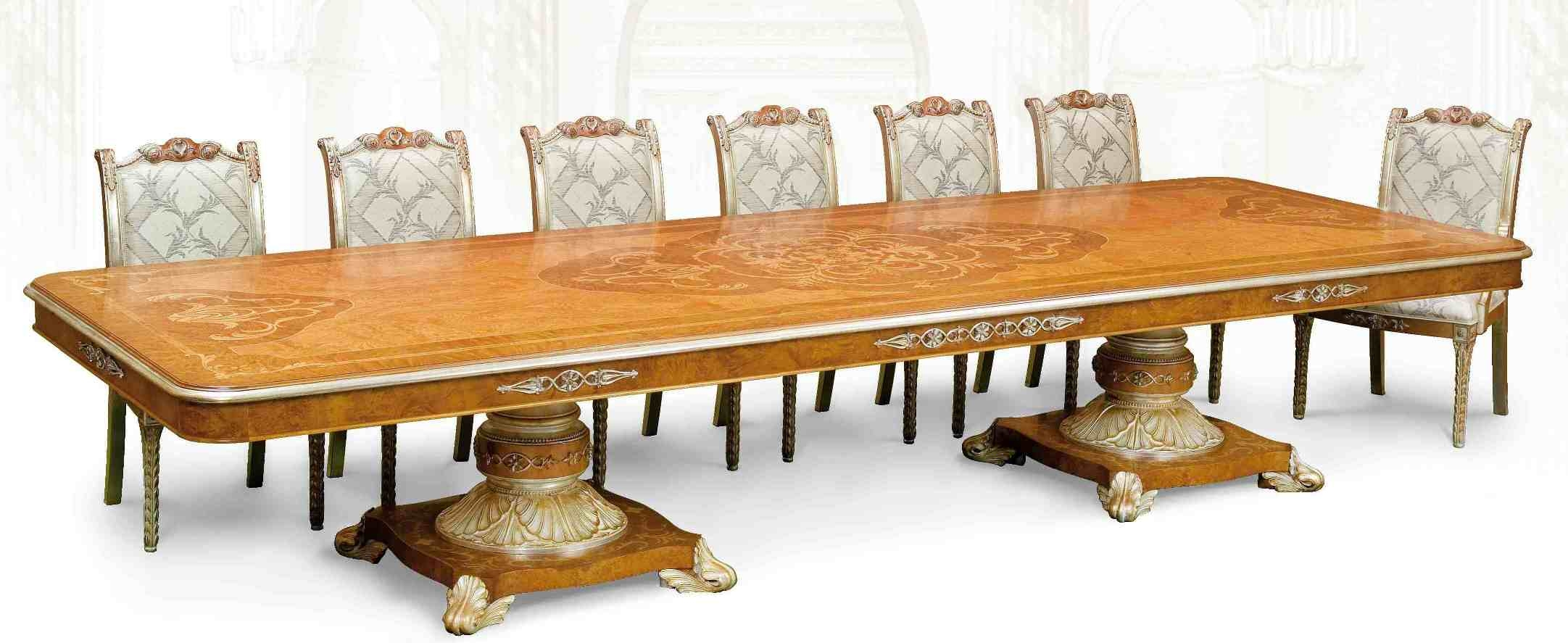 11 luxury dining furniture exquisite marquetry work for Expensive dining tables
