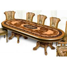 11 Luxury dining furniture. Exquisite Empire style dining set.