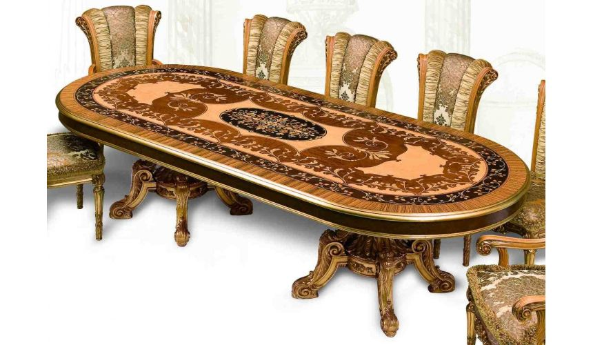 Dining Tables 11 Luxury dining furniture. Exquisite Empire style dining set.