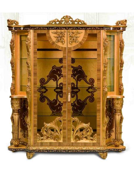 Breakfronts & China Cabinets 11 Luxury furniture. Exquisite Empire style dining cabinet.