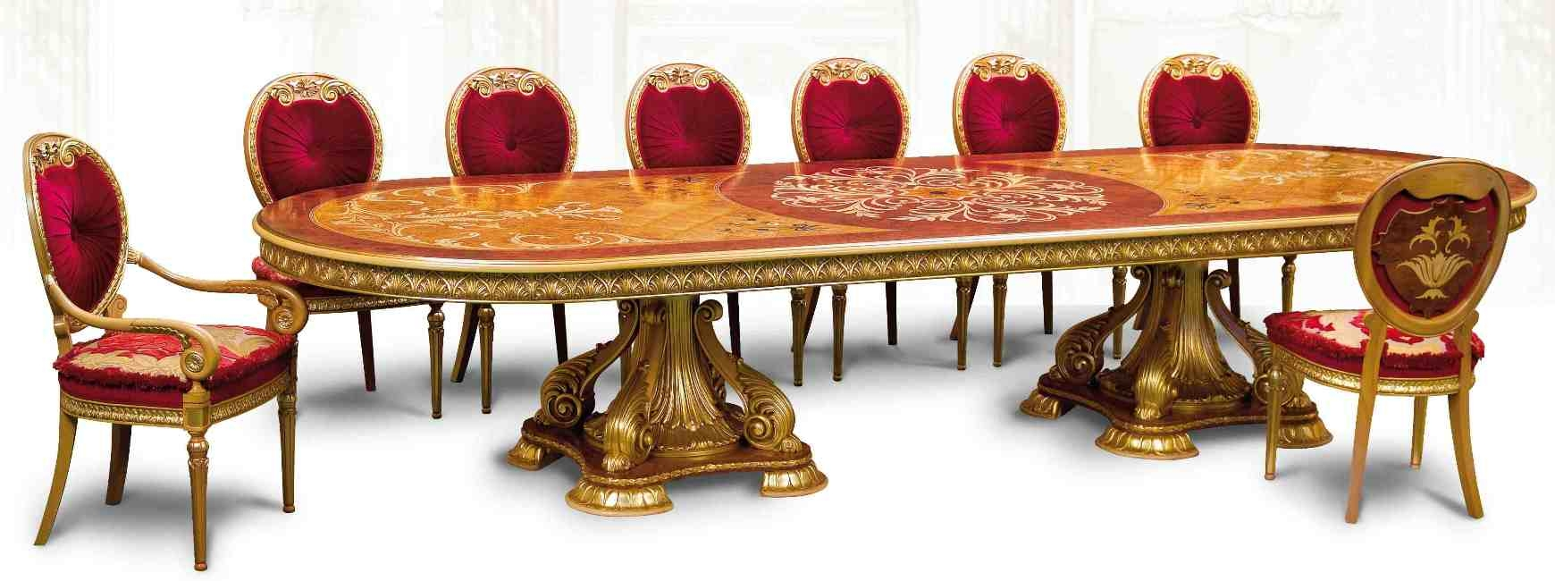 Luxury handmade furniture empire style dining table for Expensive dining tables