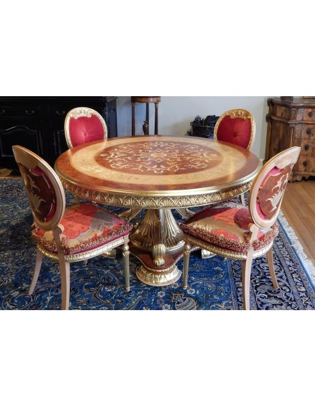 Dining Tables Luxury handmade furniture. Empire Style Round Dining Table
