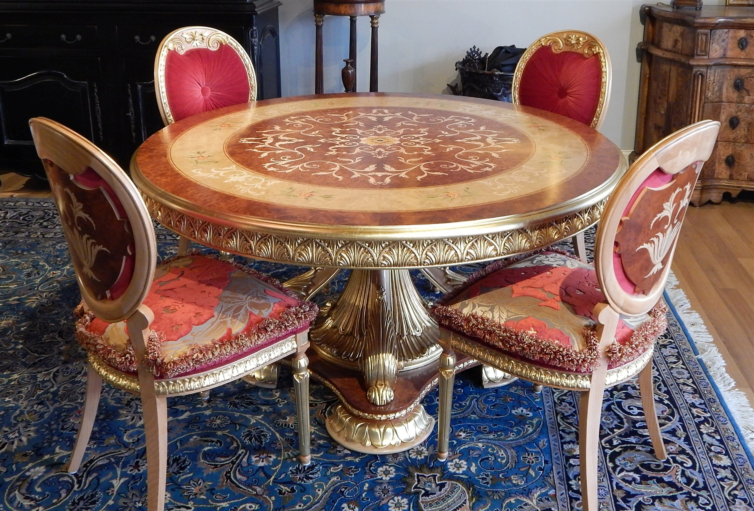 Dining Tables Luxury Handmade Furniture Empire Style Round Table