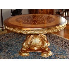 11 Luxury foyer center table. Exquisite marquetry and detail work.