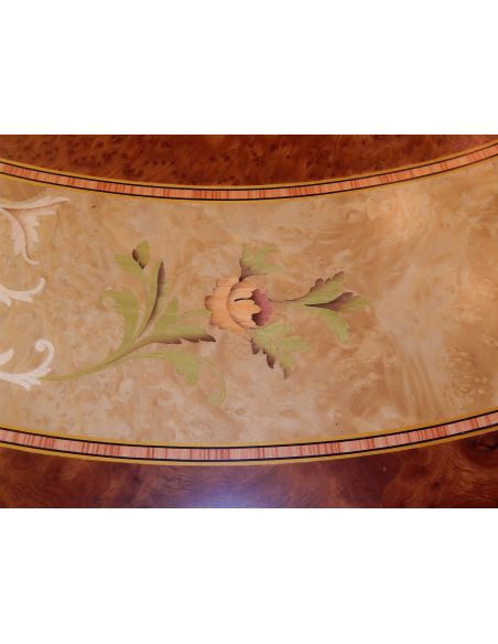 Dining Tables 11 Luxury foyer center table. Exquisite marquetry and detail work.