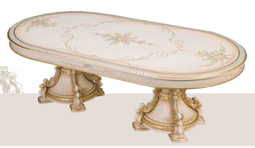 Dining Tables Venetian Hand painted high style dining set.