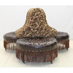 Luxury furniture. Three seat chair