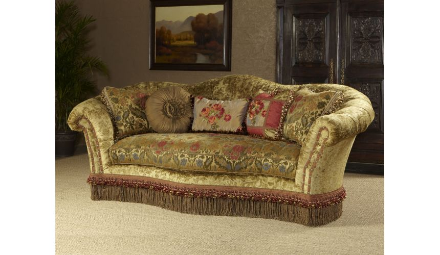 Luxury Leather & Upholstered Furniture Luxury furniture. Comfortable sofa, couch.