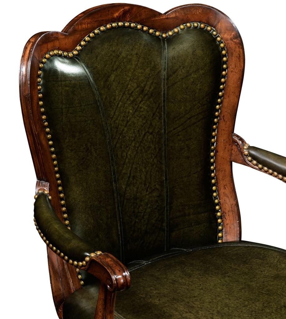 Luxury Furniture, Swivel Leather Barstool