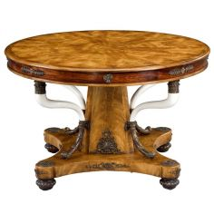 Empire style round foyer table, 84-22