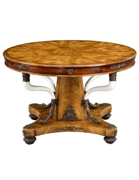 Foyer and Center Tables Empire style round foyer table, 84-22