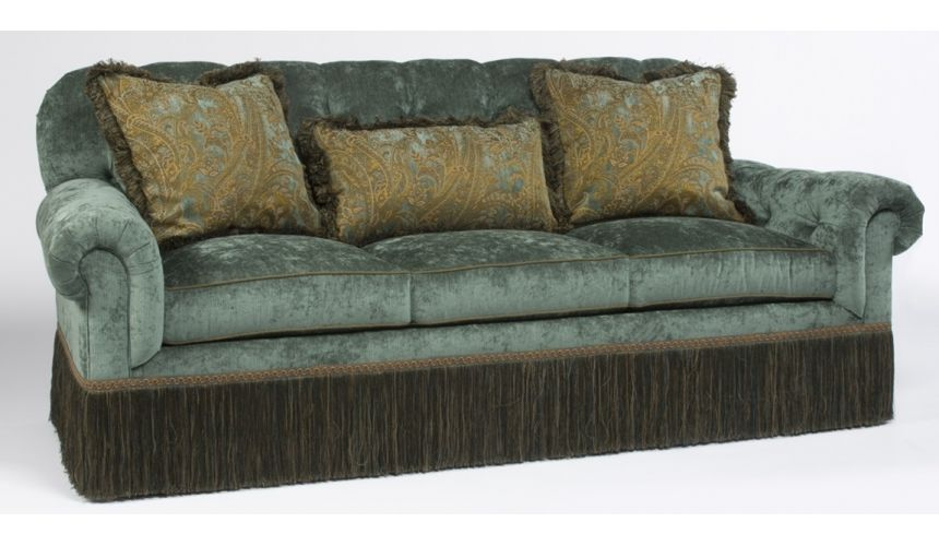 Luxury Leather & Upholstered Furniture Luxury furniture tufted back cozy sofa 930