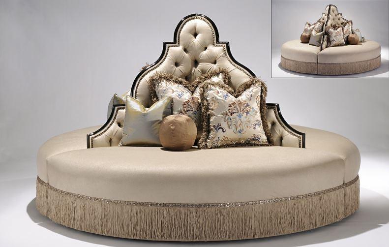 round sofa foyer or lobby seating model luxury furniture round sofa