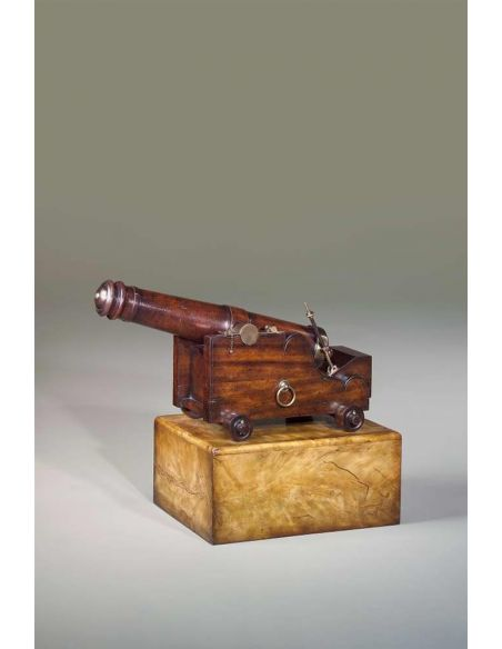Decorative Accessories luxury furniture carved mahogany naval cannon