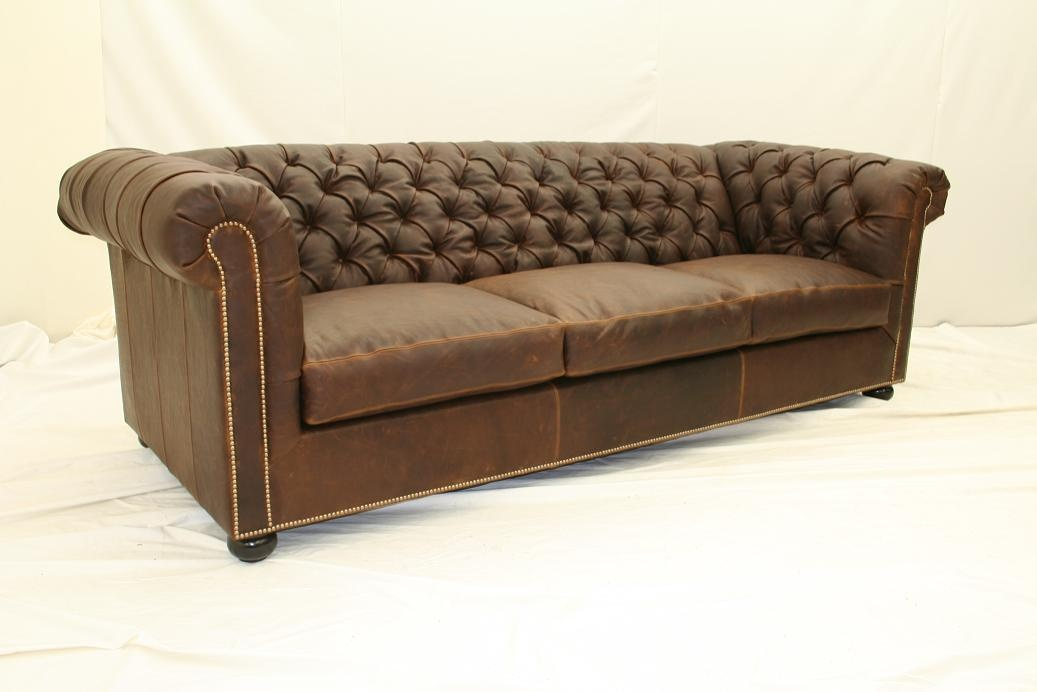 luxury home and office furniture leather tufted sofa