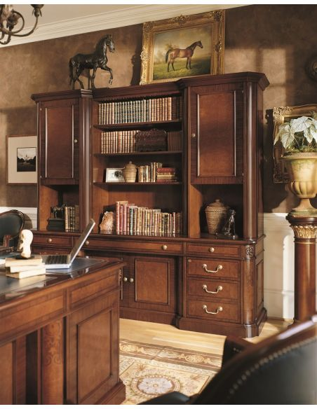 Bookcases Complete Hutch and Credenza Unit