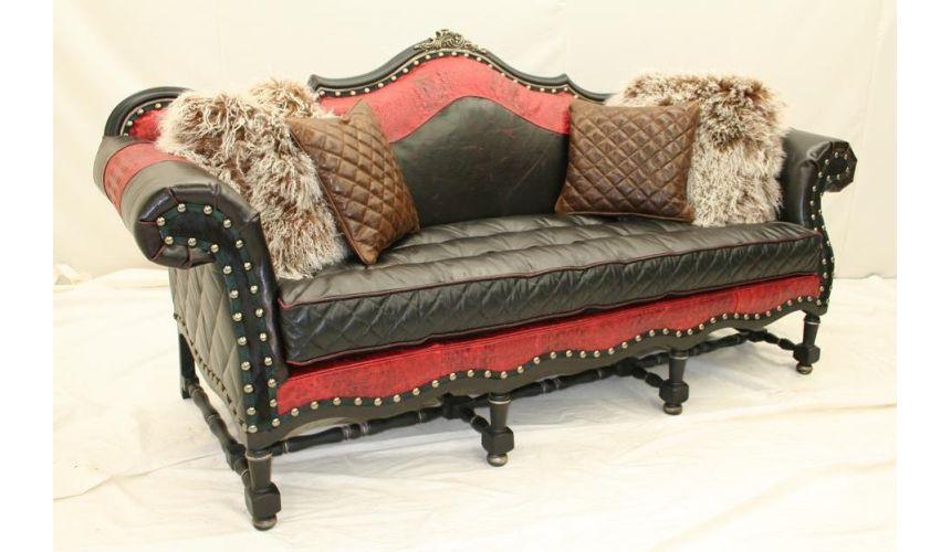 Luxury Leather Furniture Barcelonia Tufted Seat Sofa 38