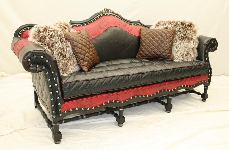Luxury Leather Furniture Barcelonia Tufted Seat Sofa