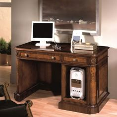 Executive desk with computer tower storage