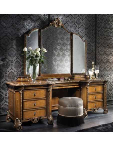 LUXURY BEDROOM FURNITURE Luxury makeup vanity. High end Italian furniture.