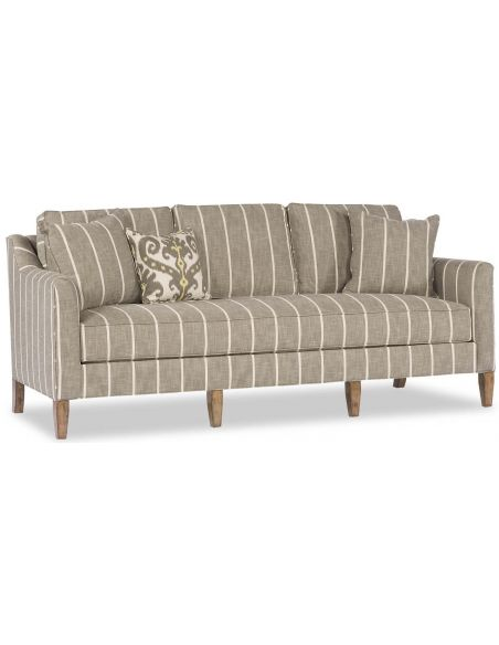 SOFA, COUCH & LOVESEAT Grey Pinstripe Sofa