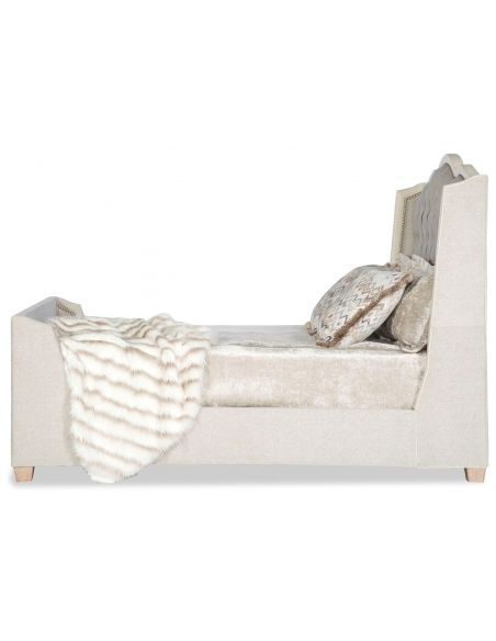 BEDS - Queen, King & California King Sizes Luxury modern style bed with tufted headboard