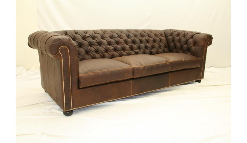 Luxury Leather & Upholstered Furniture Luxury home and office furniture, Tufted sofa