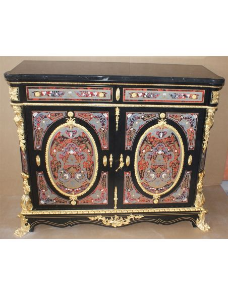 Furniture Masterpieces Luxury side cabinet. King Louis Collection Boulle marquetry work.