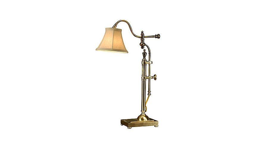 Adjustable Brass Kinked Lamp
