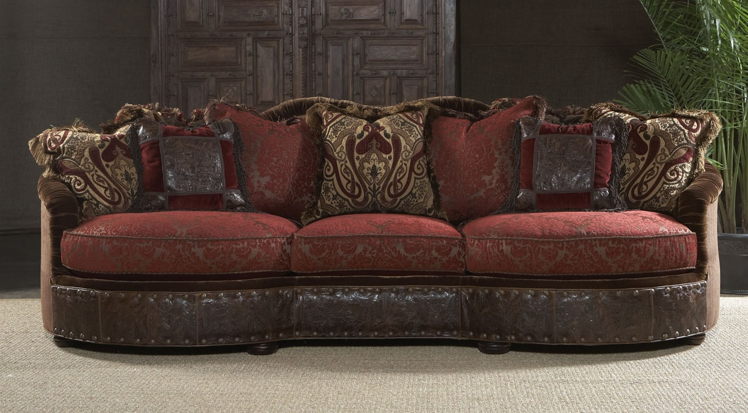 Luxury Red Burgundy Sofa Or Couch