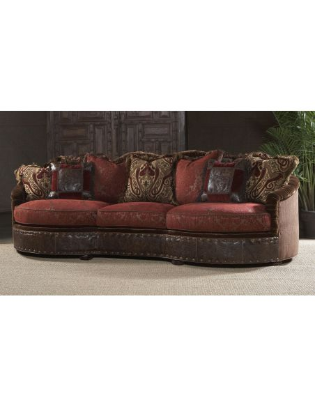 Luxury Leather & Upholstered Furniture 11 Luxury red burgundy sofa or couch.