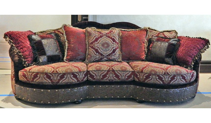 12 Luxury red burgundy sofa or couch.