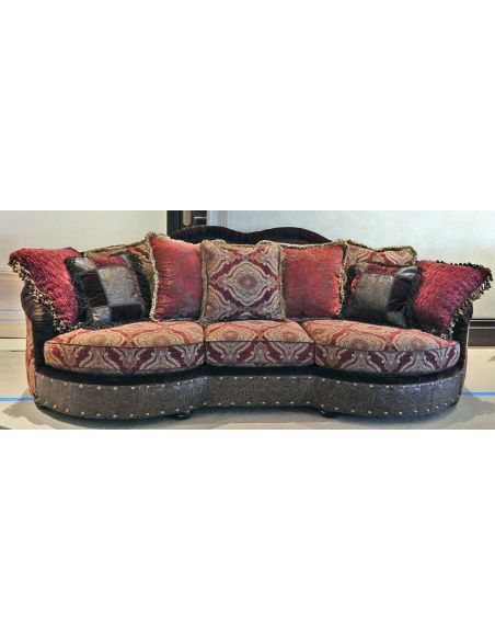 Luxury Leather & Upholstered Furniture Luxury red burgundy sofa or couch.