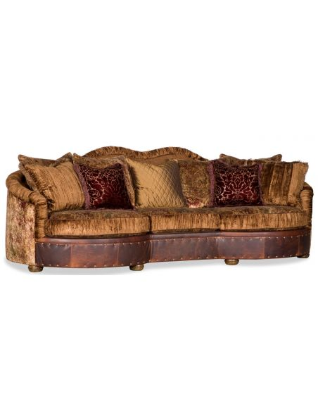 Luxury Leather & Upholstered Furniture 13 Luxury velvets on comfortable sofa or couch.