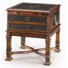 Luxury traditional furniture. Chest of drawers side table.