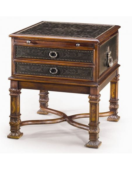 Square & Rectangular Side Tables Luxury traditional furniture. Chest of drawers side table.