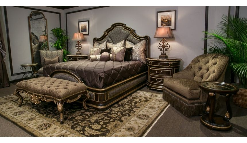 Queen and King Sized Beds Upholstered Low Post Bed