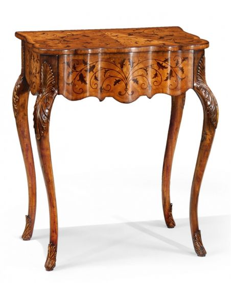 Square & Rectangular Side Tables Rectangular Luxury Furniture Small Marquetry Table