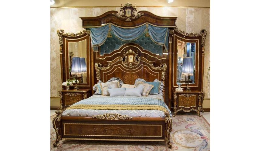 BEDS - Queen, King & California King Sizes Master bedroom with boiserie. Furniture Masterpiece Collection.