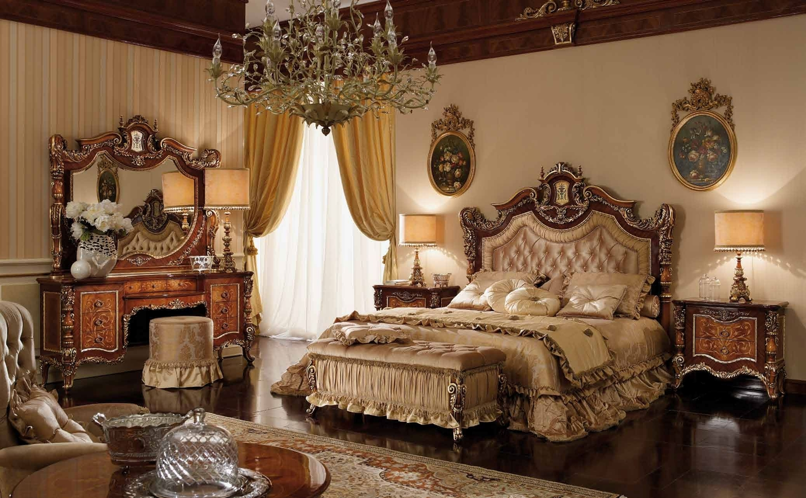 Exceptional master bedroom set with a tufted headboard for Designer inspired bedding