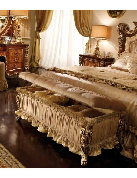 BEDS - Queen, King & California King Sizes Master bed with tufted headboard. Furniture Masterpiece Collection.